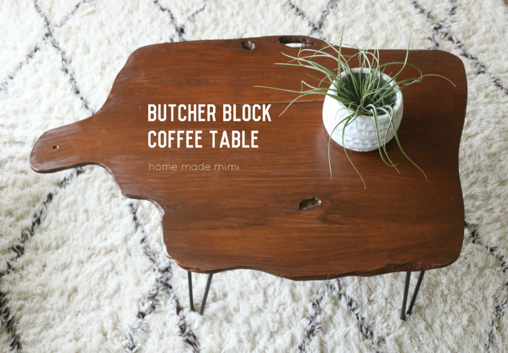 butcher block coffee table home made mimihome made mimi