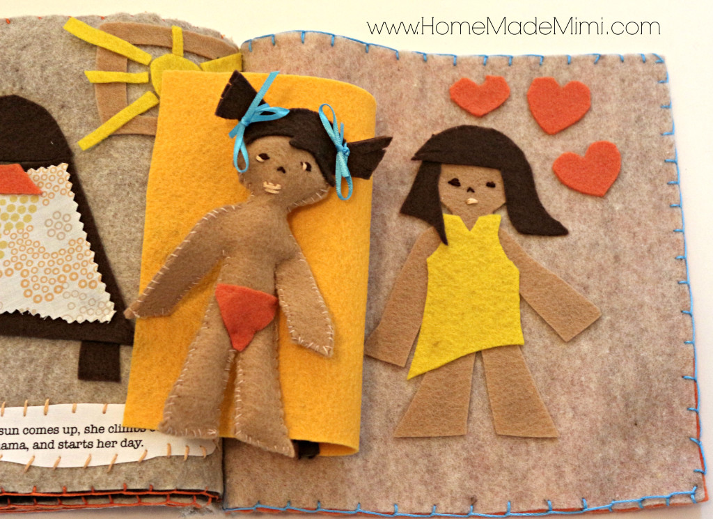 DIY felt book, felt book, crafts, kids, babies, toddlers, crib, bed