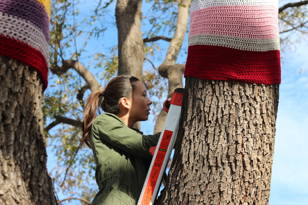 yarnbomb, yarn, yarn bomb, homemademimi, village green, street art,, national women's history month