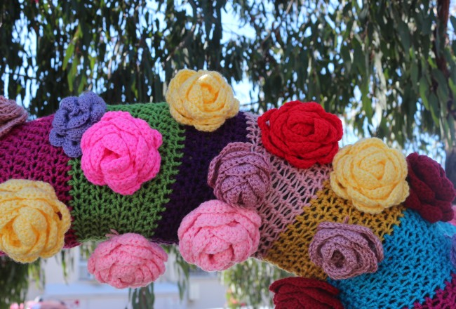 yarnbomb, national women's history month, women's history month, yarn