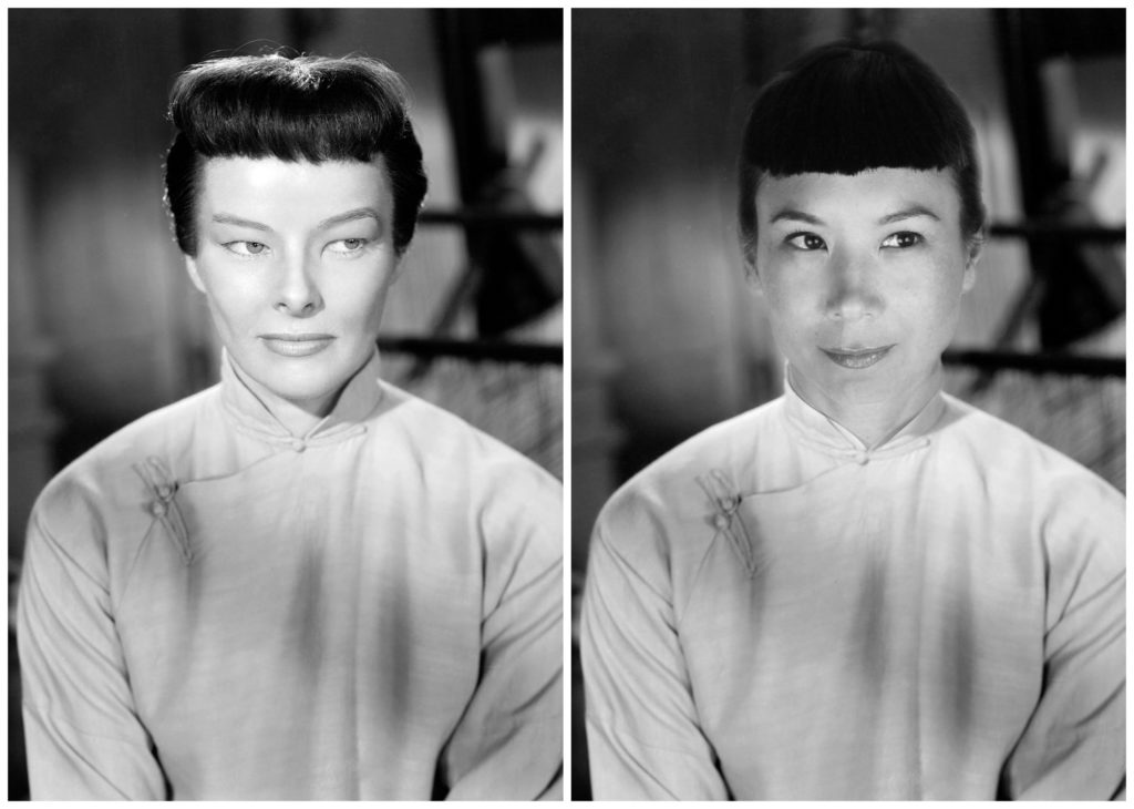 dragonseed, katharine hepburn, michelle villemaire, yellowface, correction, asian, asian american, actor, actress, hollywood