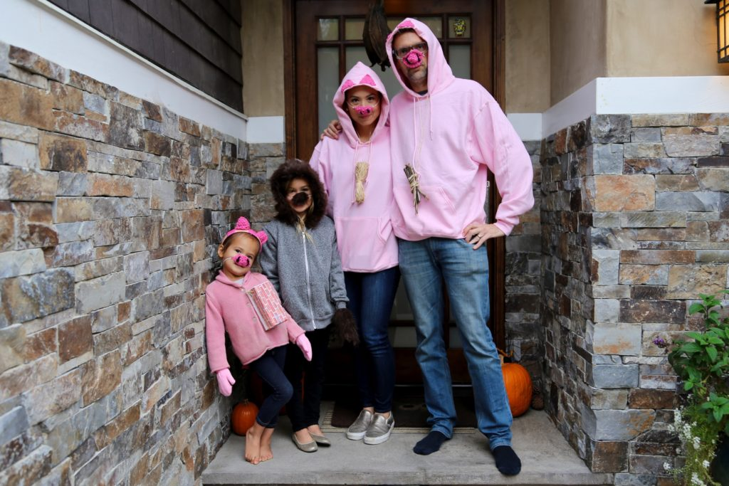 three little pigs, family costume, halloween