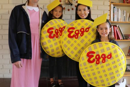stranger things, eleven, eggos, halloween, family costumes, upside down, netflix, DIY, Michelle Villemaire, HomeMadeMimi