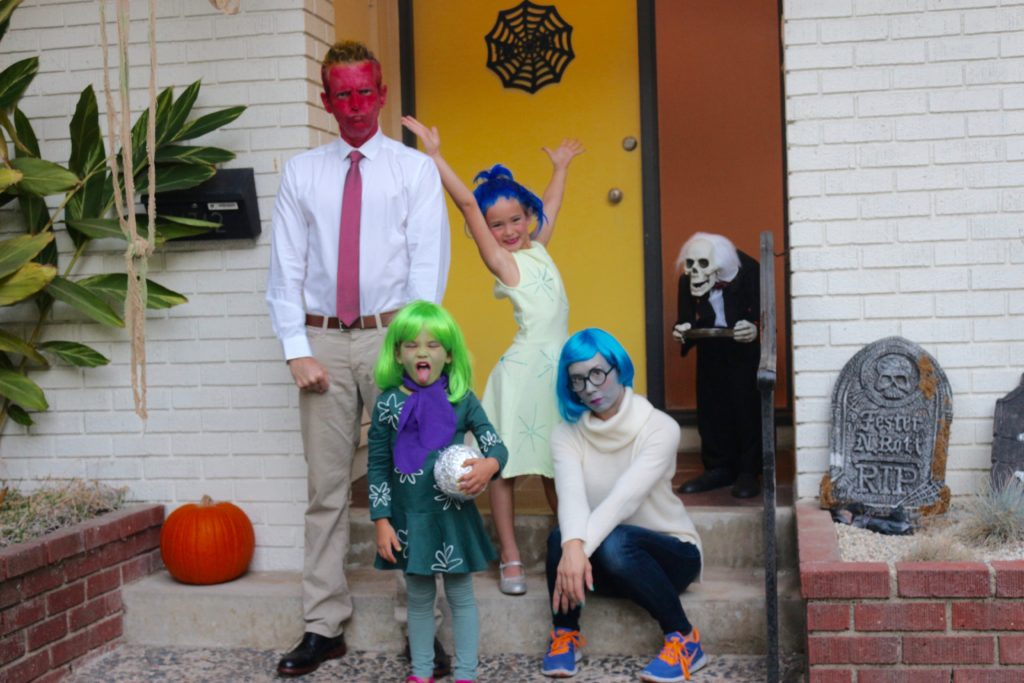 inside out, family costume, hollowed